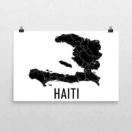 Amazon.com: Haiti Map, Haitian Art, Map of Haiti, Haitian ...