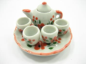 2 White Teapots  Dollhouse Miniatures Ceramic Supply Food