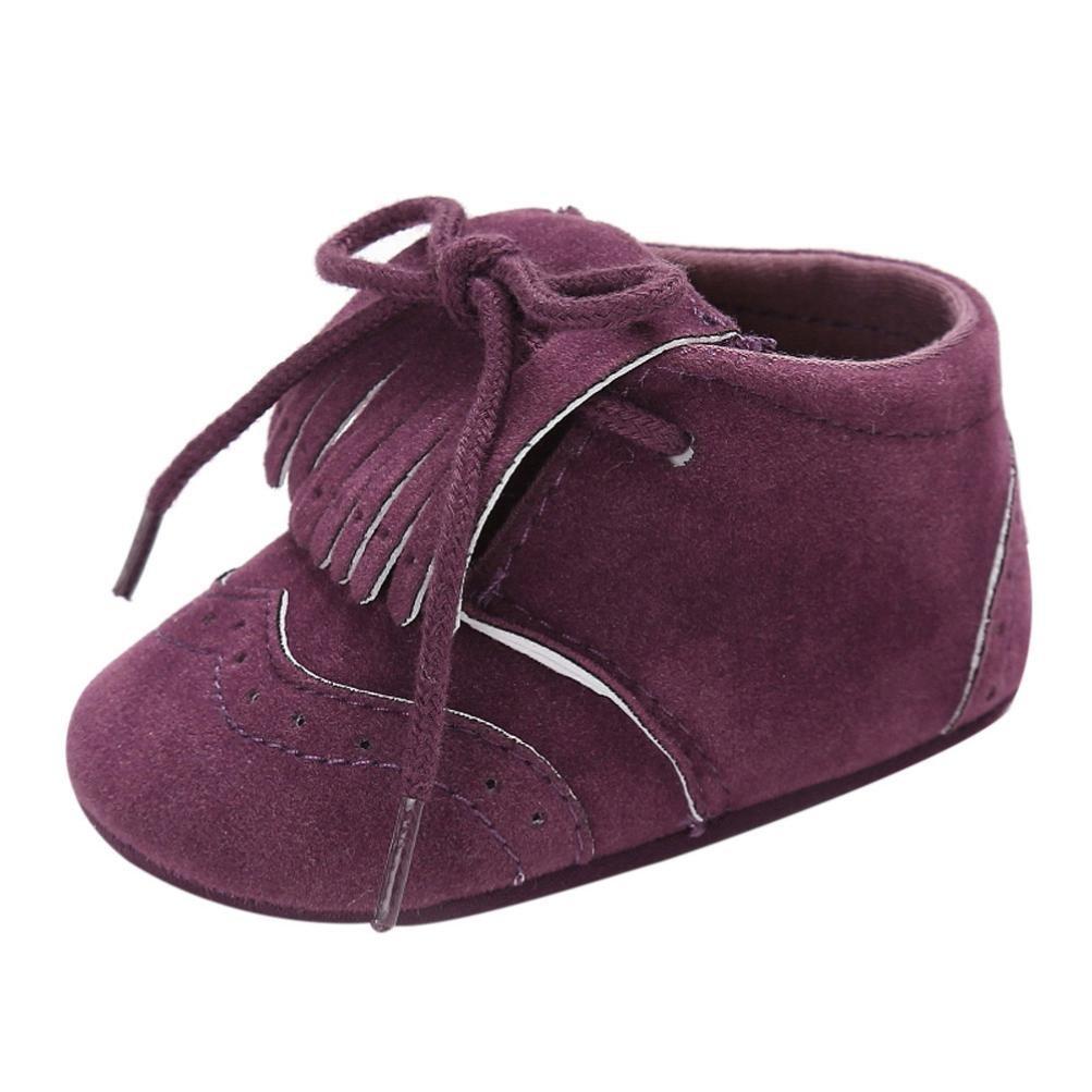 Zapatos de bebé para bebés Botas para niños Chicas Chicos Borla Suela blanda Antideslizante Lona Zapatos de cuna Zapatillas LMMVP