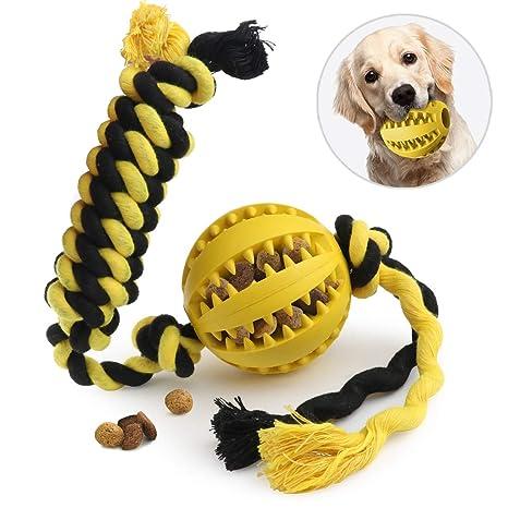 Idepet - Pelota de juguete para perro, cuerda de algodón, no tóxica, resistente a los ácaros, ...