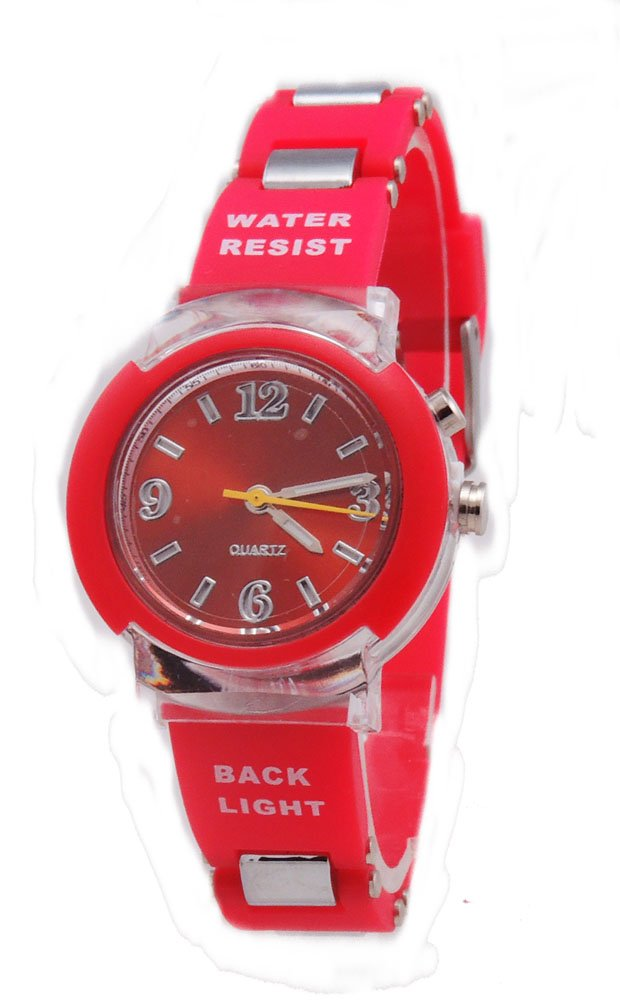 Kids' New Flashing Light up Color Changing LED Dial Analog Watch
