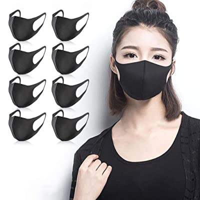 nobrand Cikyoo 8pcs Face Protective Washable Reusable Cotton Mouth Protection Face Bandanas Men Women Adults: Sports & Outdoors