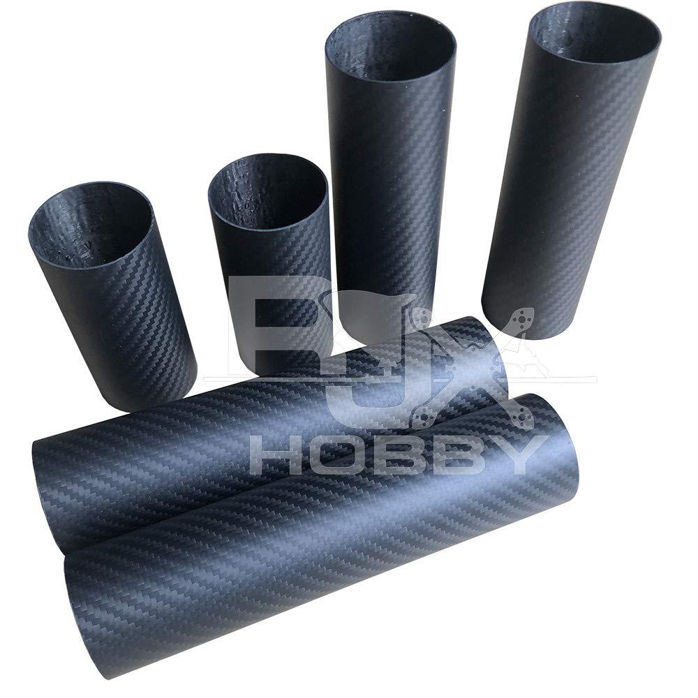 RJXHOBBY 22mmx20mmx1000mm Carbon Fiber Tube 3K Roll Wrapped Matte Surface