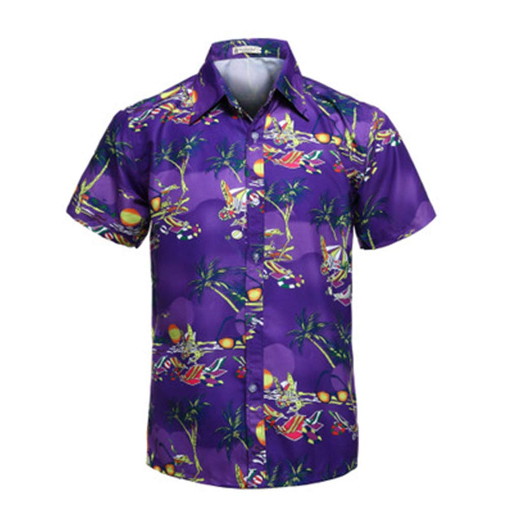 AS Know AS Mens Hawaiian Shirt Regular Fit Hawaiian Shirts for Men with Quick to Dry Effect