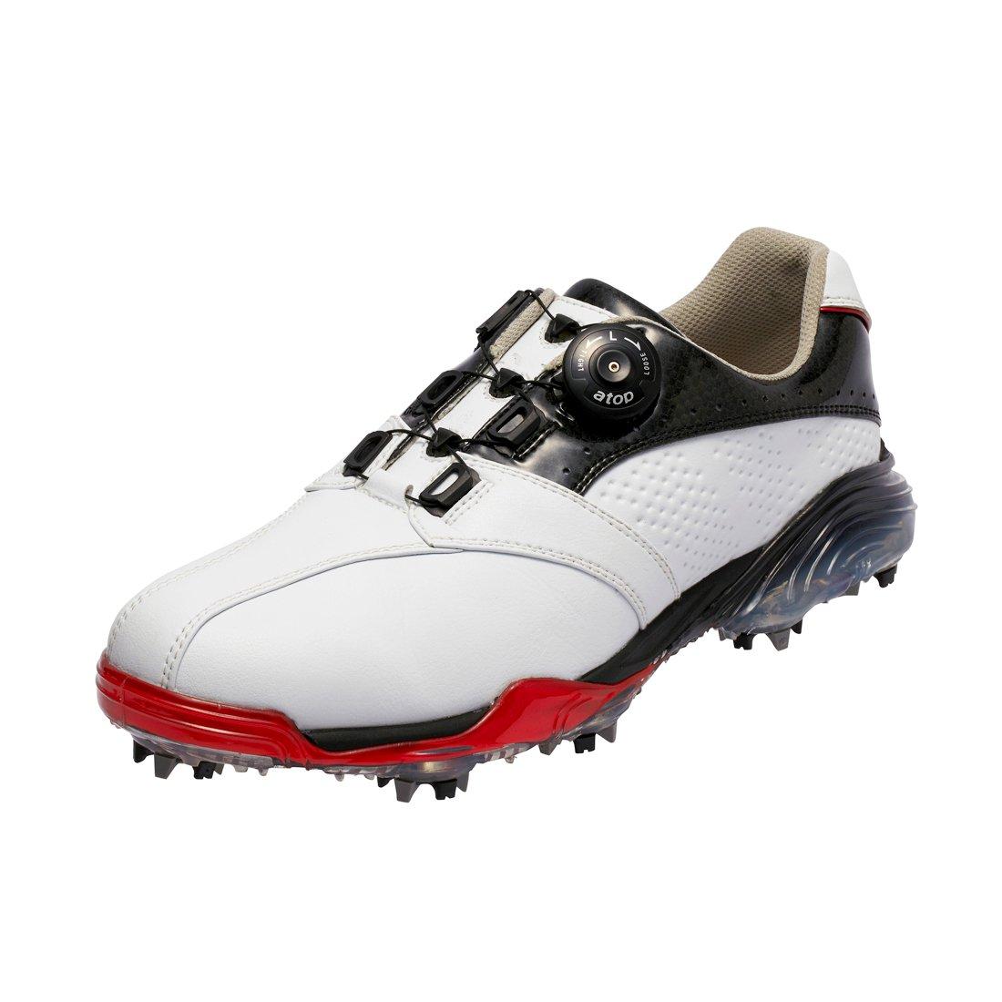 本間ゴルフ Be ZEAL メンズ スポーツモデル ダイヤルシューズ ホワイト/ブラック 26.5cm 3E SS-1602 原産国:中国 素材:甲(人工皮革) 、底(EVAスポンジ/TPU)   B077HM3T4C