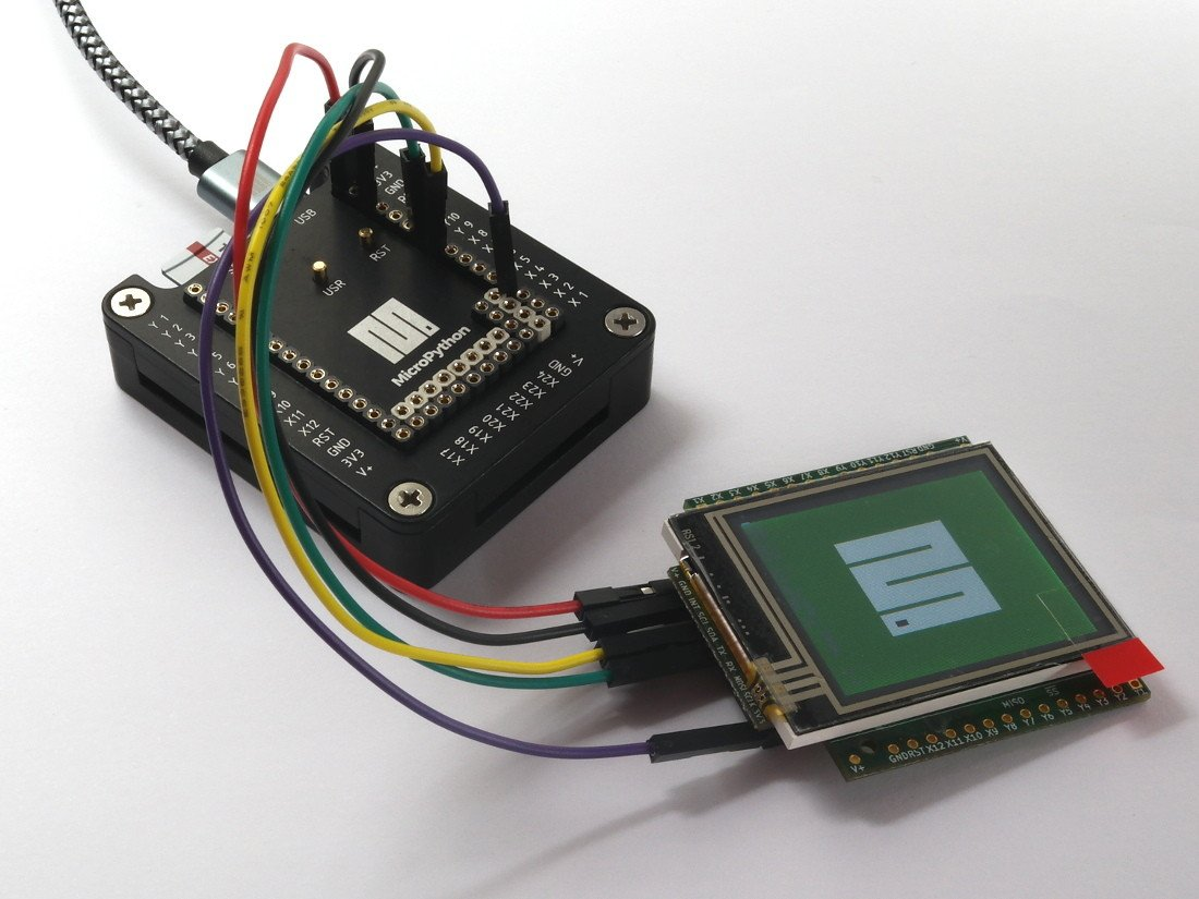 micropython LCD Colour Skin with Resistive Touch WITHOUT Headers