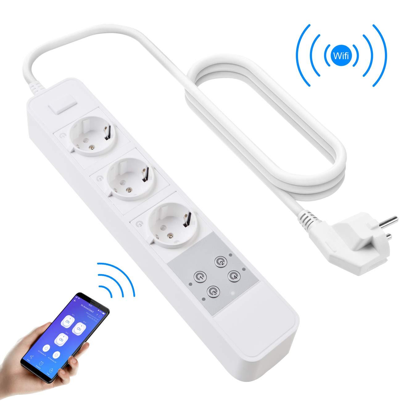Docooler Sonoff S20 WiFi Commutateur de Prise de Courant WiFi APP sans Fil Prise de Sortie /à Distance Commutateur de synchronisation pour Smart Home Work avec Alexa