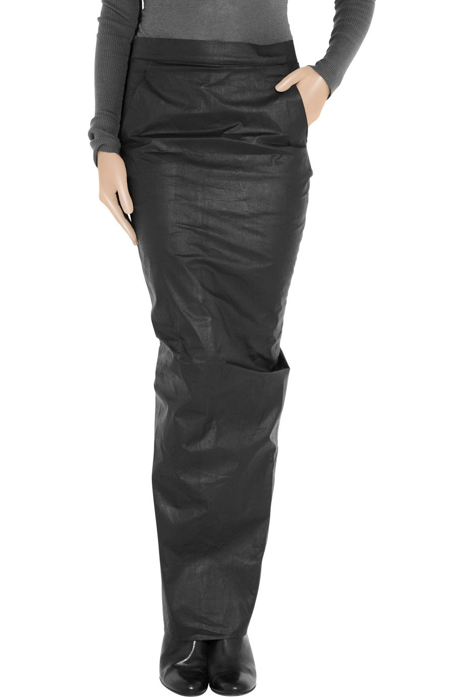 Get The Looks Leather Effect Maxi Tulip Skirt (2)