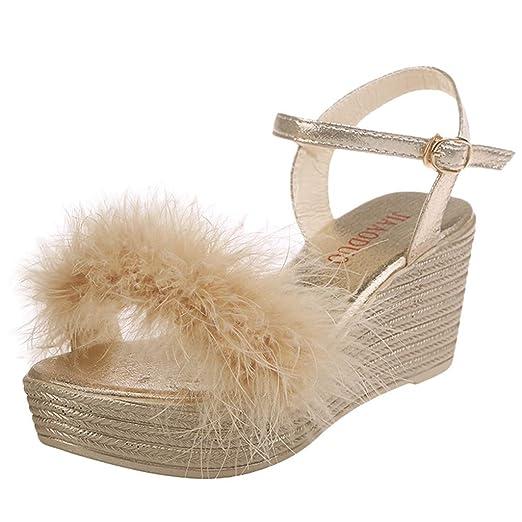 490dd8144f095 Amazon.com: Duseedik Women's Wedges Sandals Summer Peep Toe ...