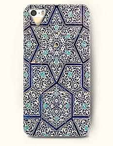 OOFIT Apple iPhone 5 5S Case Moroccan Pattern ( Subtle Blue Hexagon )