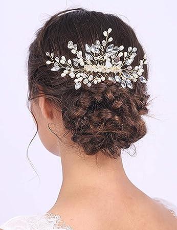 Bridal Hair Comb Wedding Hair Comb Crystal hair comb hair clip Large Pearl Hair comb Bridal Hair Piece hair accessories
