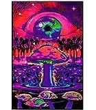 Opticz Mushroom Ripple Blacklight Poster