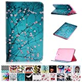 Galaxy Tab E 8.0 case-UUcovers(TM) Ultra Slim Lightweight Standing cartoon pattern Cover for Samsung Tab E 8.0-Inch SM-T377 Tablet (Pear Flower) Book Reviews