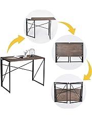 FurnitureR Estantería de Estilo Industrial y Elegante estantería Vintage y Escritorio de computadora para Estudio, Oficina, Sala