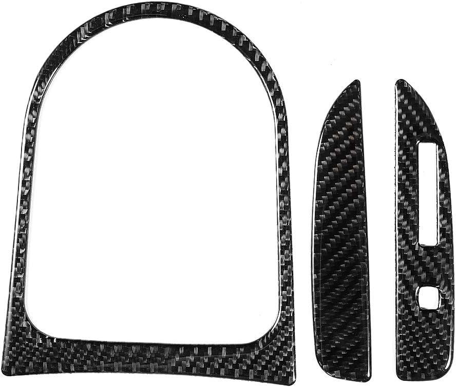 Gorgeri Couvertures de Panneau de Changement de Vitesse de Voiture,Panneau de Changement de Vitesse Automatique en Fibre de carbone pour 2015-2017
