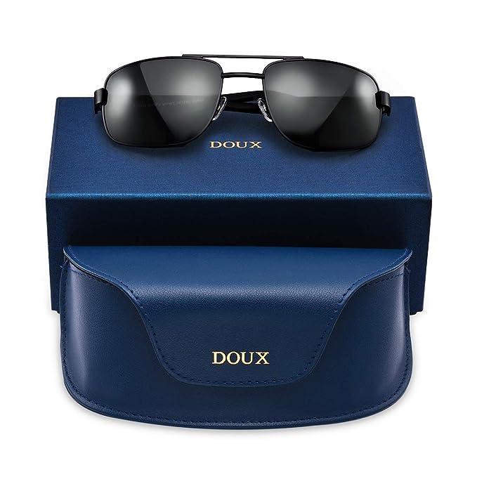 Amazon.com: Doux - Gafas de sol polarizadas clásicas y ...