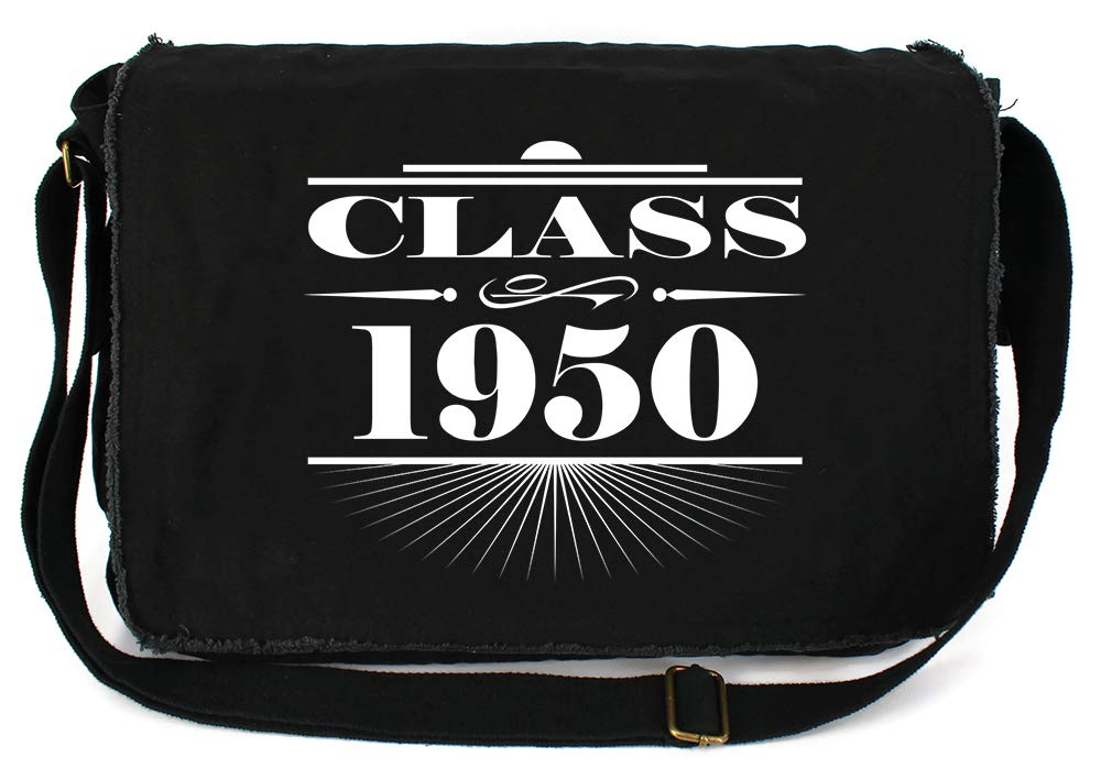 Tenacitee Art Deco Class of 1950 Green Brushed Canvas Messenger Bag