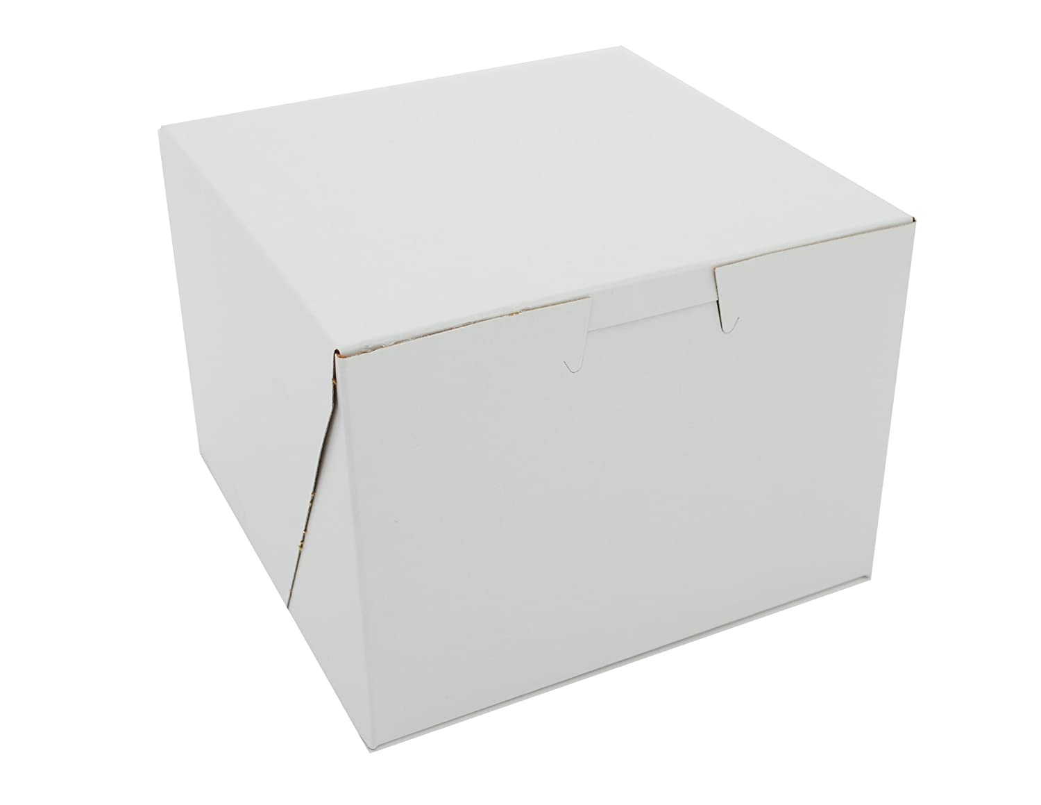 Southern Champion Tray 0900 Premium Clay Coated Kraft Paperboard White Non-Window Lock Corner Bakery Box, 5-1/2 Length x 4 Width x 3 Height (Case of 250)