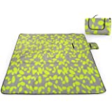 SKYSPER 200 * 200cm Extra Large Waterproof Picnic Blanket Foldable Beach Mat Picnic Rug for Meadow Travel Camping Hiking Outdoor Activities