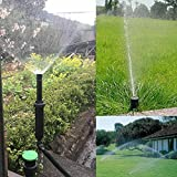 Popup Sprinkler - 25 360 Degrees Plastic Popup Sprinklers Garden Watering Irrigation Lawn Cooling - Inch Tool Kit Heads Lawns Gear Cap Large Sprayers Filters