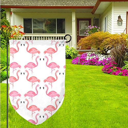 Pink Flamingos Home Garden Flag Vertical Double Sided Spring Summer Yard Outdoor Decorative 12 X 18 Inch (33 1 3 Pink Flag)