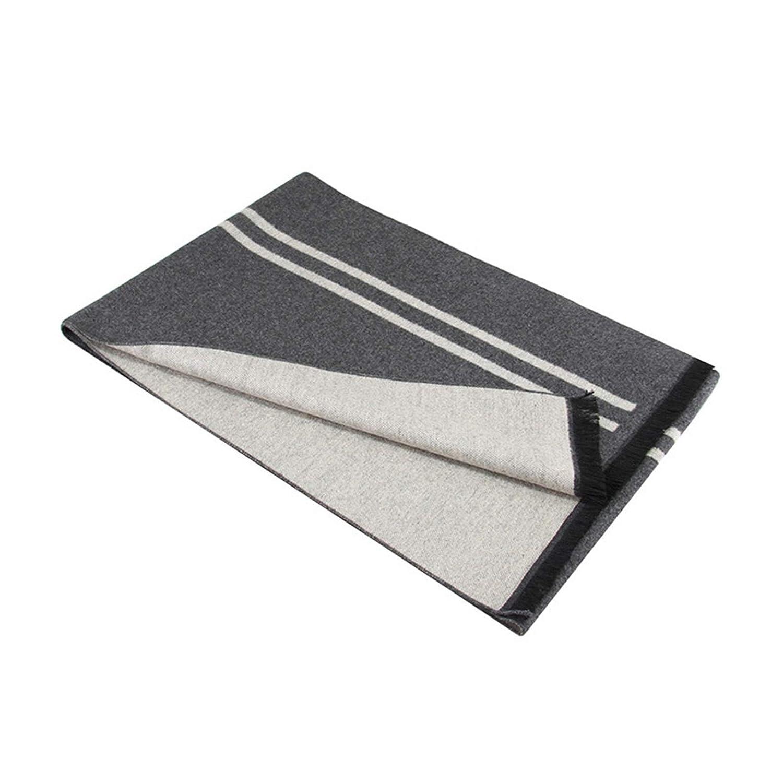 Gnzoe Mens Scarf Winter Warm 70 x 12 inch Cozy Soft Cotton Stripe Scarf for Men