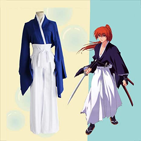ULLAA Anime Cosplay Rurouni Kenshin Himura Kenshin Adulto Disfraz ...