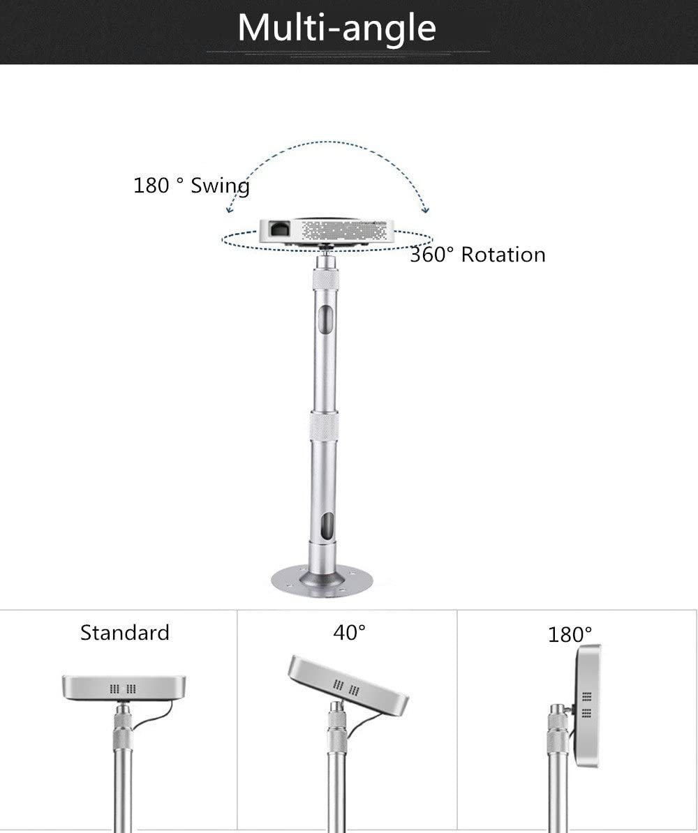 Zice Adjustable Extendable Universal LCD DLP Projector Wall Ceiling Mount Bracket 50 to 90cm