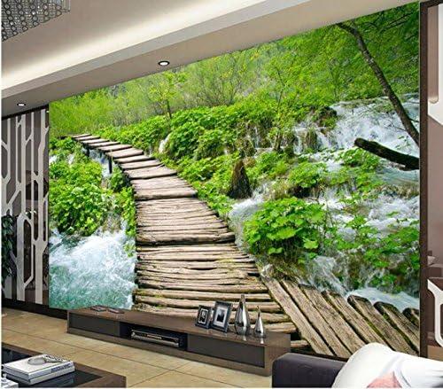 Weaeo 3D壁紙カスタム壁画不織布小さな橋と水の装飾ペイント写真の壁紙3D壁壁画の壁紙-400X280Cm