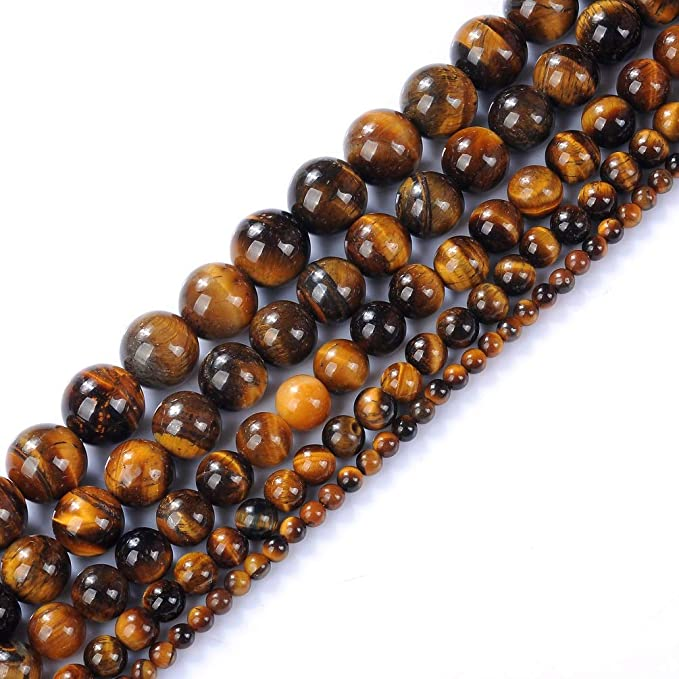 Rated Genuine Yellow Tiger Eye Beads BK41 8mm Grade AA Yellow Tiger Eye Beads