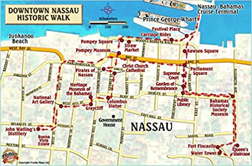 Nassau Historic Walking Tour New Providence Island Bahamas Maps