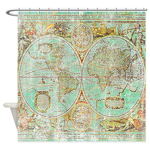 CafePress Old World Map Decorative Fabric Shower Curtain