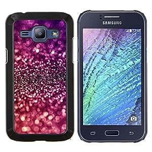 Caucho caso de Shell duro de la cubierta de accesorios de protección BY RAYDREAMMM - Samsung Galaxy J1 J100 - Sparkle púrpura brillante reflectante