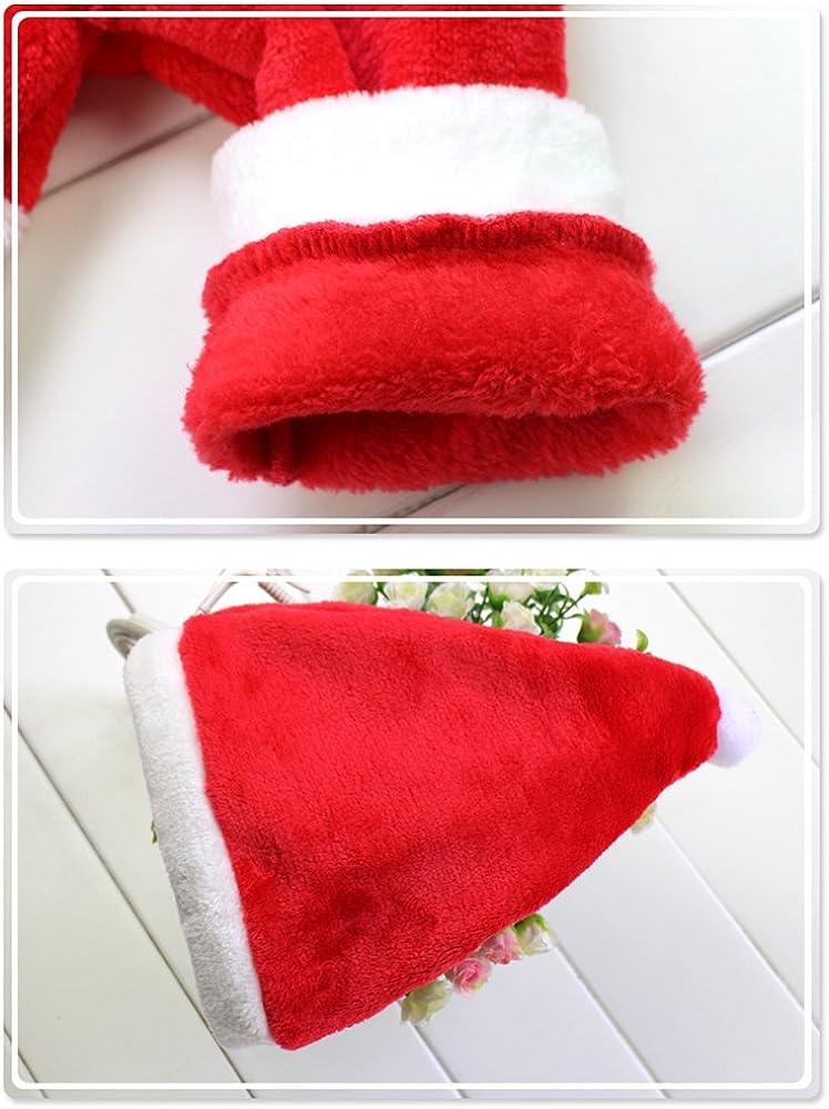 Le SSara Beb/é Invierno Navidad Cosplay Vestido Traje reci/én Traje Sombrero 2pcs