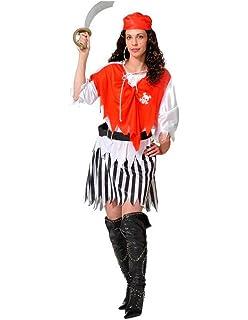 Disfraz de Pirata Caribeña para mujer: Amazon.es: Juguetes y juegos