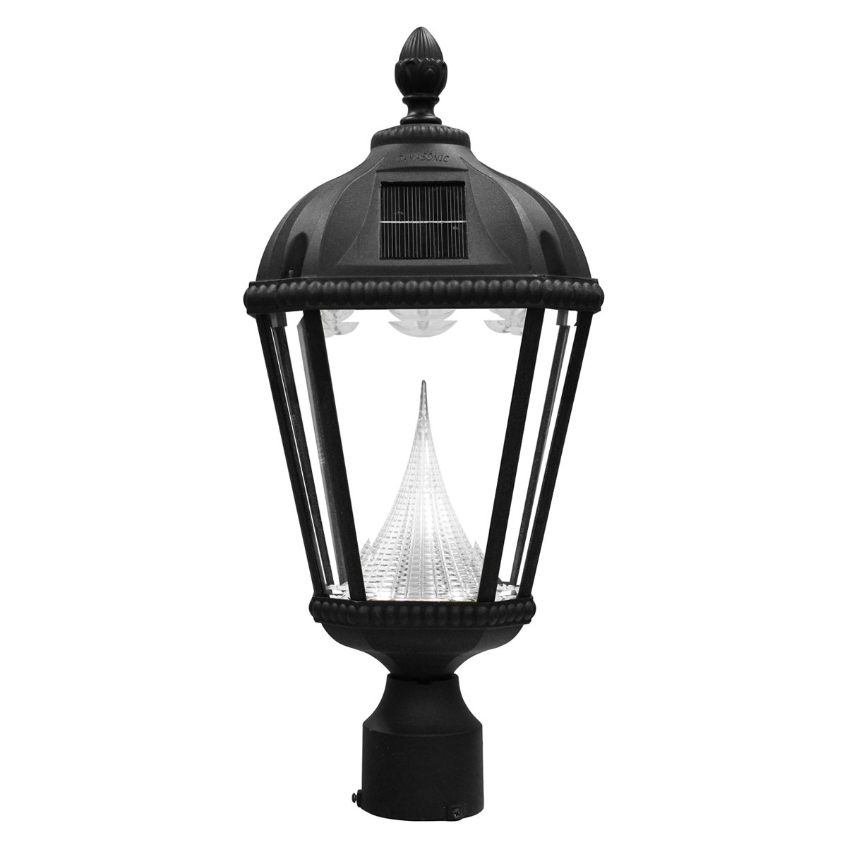 Amazon gama sonic royal solar outdoor led light fixture 3 amazon gama sonic royal solar outdoor led light fixture 3 inch fitter for post mount black finish gs 98f b outdoor post lights garden outdoor aloadofball Image collections