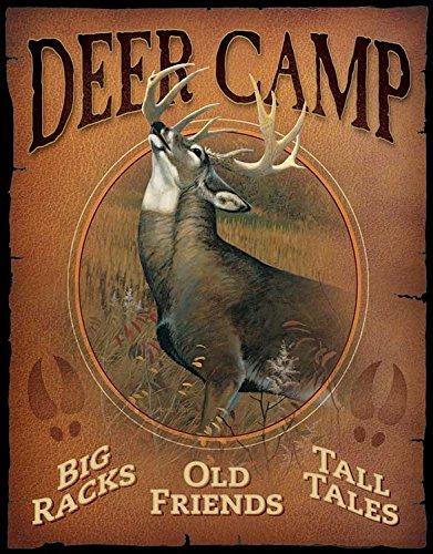 (Wild Wings Deer Camp Tin Sign)