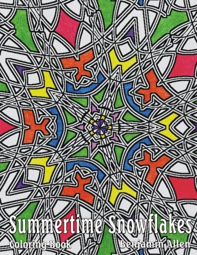 Summertime Snowflakes: Summertime Snowflakes Adults & Kids Stress Relief Coloring Book