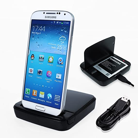 SurePromise One Stop Solution for Sourcing Soporte Cargador Base Dock Cradle para Samsung GALAXY S4+Cable Micro USB