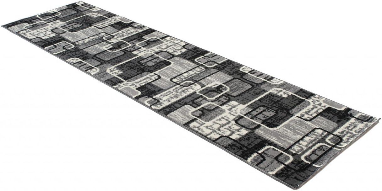 Tapiso Dream L/äufer Flur Teppich Kurzflor Modern Teppichl/äufer Br/ücke Grau Creme Mehrfarbig Meliert Viereck Muster Wohnzimmer /ÖKOTEX 70 x 150 cm