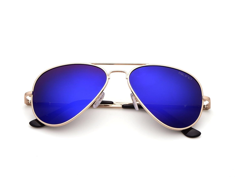 Miuno - Lunettes de soleil - Homme Blauverspiegelt vJ8MScgD4o