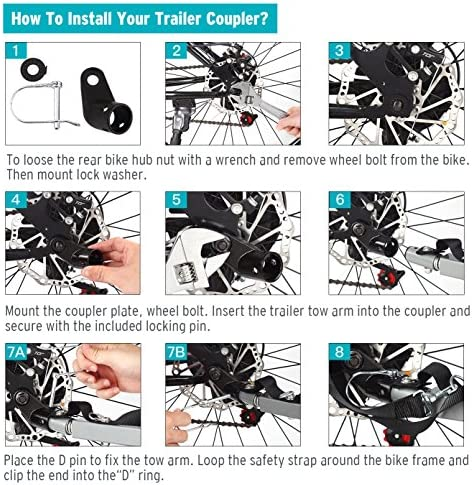 Titanker Upgraded Bike Bicycle Trailer Coupler Attachment Angled Elbow for Inste
