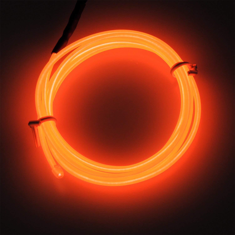 Lila, 10ft Flexibel Neon Beleuchtung Draht Lichtschlauch Leuchtschnur EL Kabel Wire mit 3 Modes f/ür Partybeleuchtung