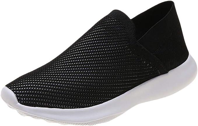 Zapatillas Mujer Zapatos sin Cordones de Tejido Volador para Mujer ...