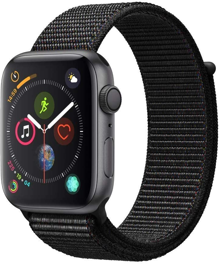 AppleWatch Series4 (GPS, 44mm) - Space Gray Aluminum Case with Black Sport Loop