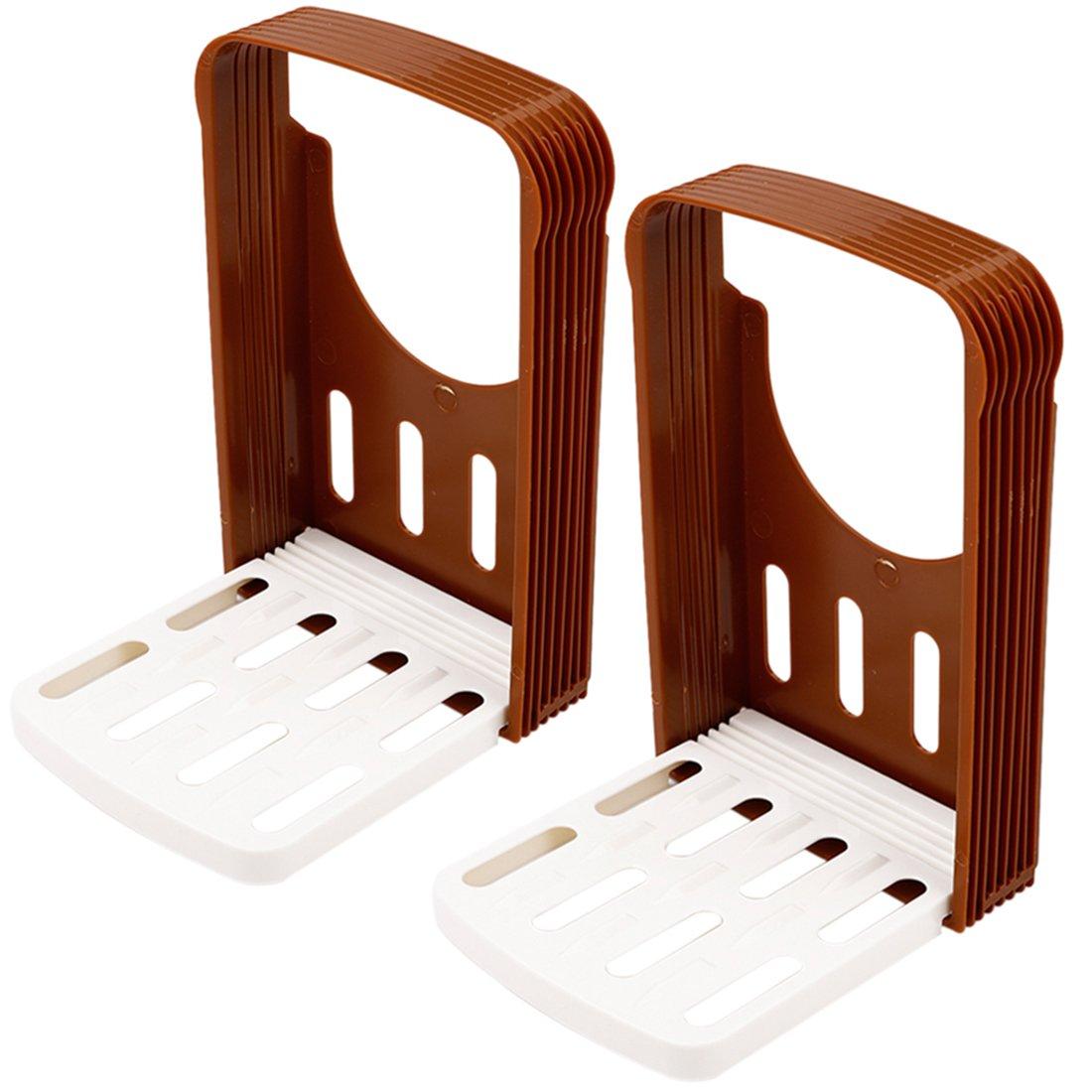 Tosnail 2 Pack Foldable Bread Slicer Loaf Cutter for Bagel/Sandwich/Toast Make
