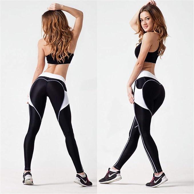 500acd73d434e5 Amazon.com: M-ONEZOU Heart Push Up Leggings Women Patchwork Workout Leggins  Sporting Jeggings Polyester Legging Pockets S-L 2 Colors: Sports & Outdoors