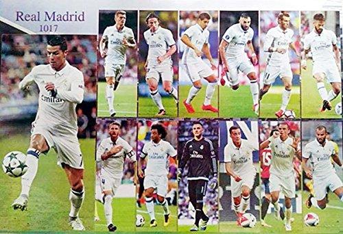 J-0030 Real Madrid Team 2016 / 2017 Football, soccer Poster - Rare New - Image Print Photo