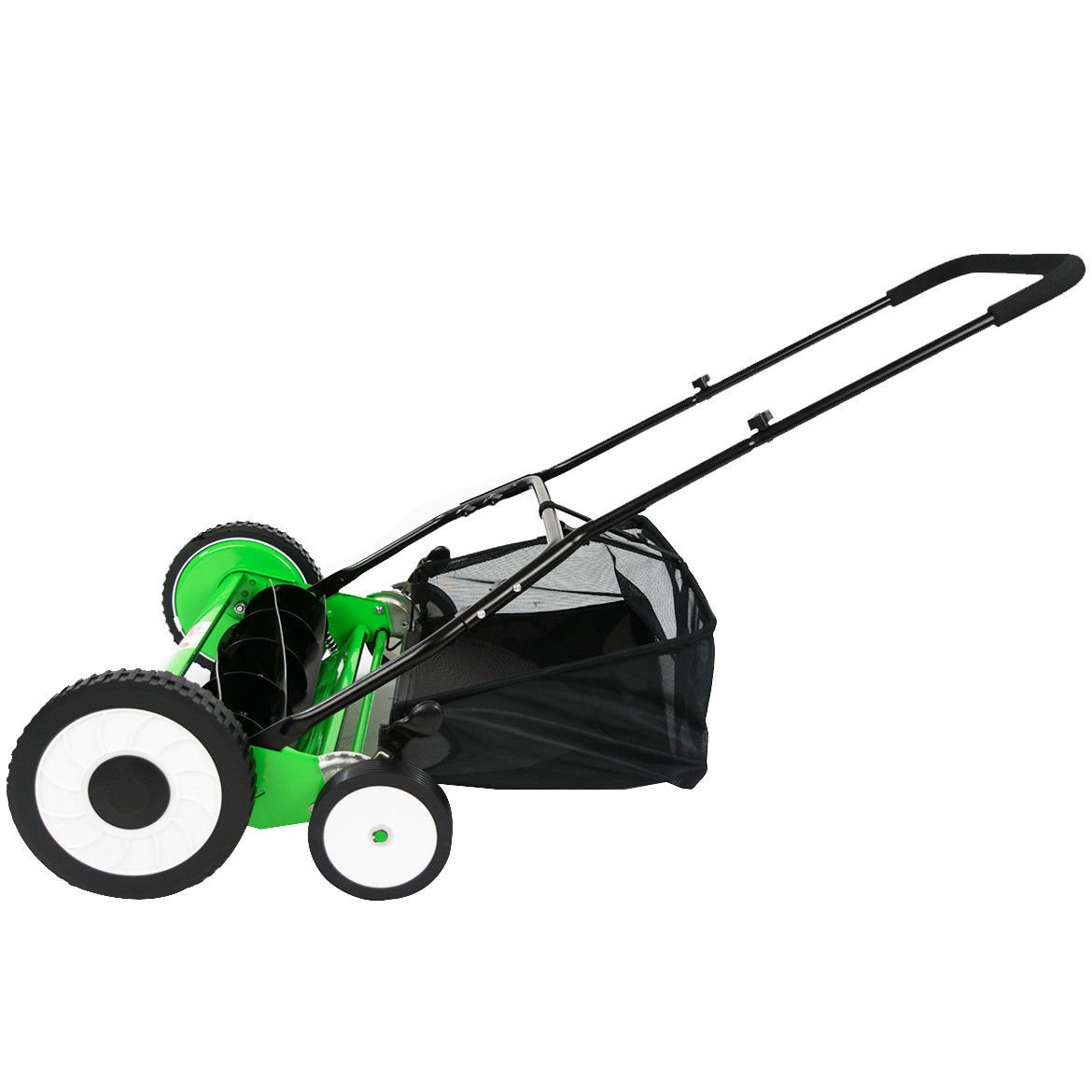 Alek... 20-Inch Manual Reel Mower with Grass Catcher Bag Lawn mower Home Garden