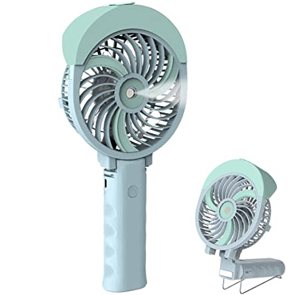 HandFan Handheld Misting Fan, Mini Hand Fan/Small Desk Fan Folding Change  USB/